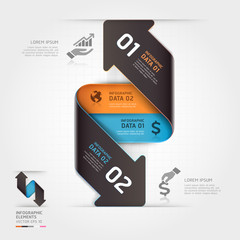 Abstract business arrow infographics template. Vector illustrati