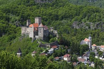 Österreich, Ansicht der Burg Hardegg in Hardegg