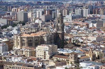 Spanien, Malaga, Stadtbild und Kathedrale von Malaga