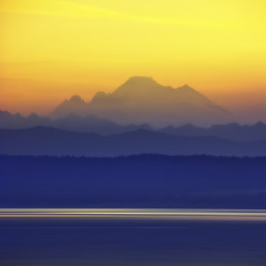 USA, Washington, Blick auf den Mount Baker