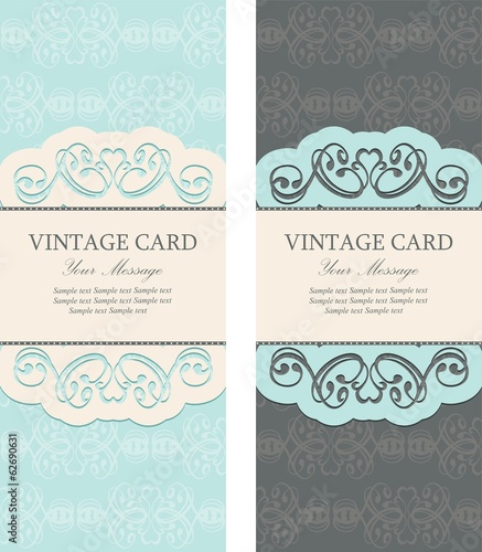 Beautiful vintage invitations set