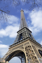 Frankreich, Paris, Blick auf Eiffelturm