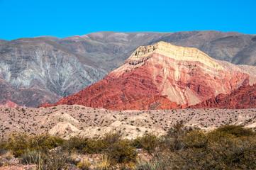 Colourful valley of Quebrada de Humahuaca, central Andean Altipl