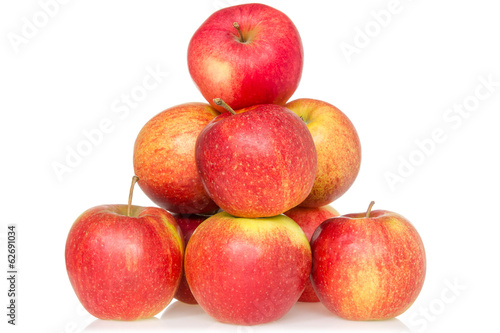 Pyramid of red apples