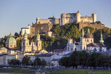 Österreich, Salzburg, Blick auf Festung Hohensalzburg