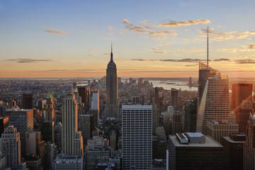 USA, New York City, Blick auf das Empire State Building im Manhattan