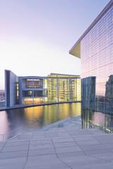 Deutschland, Berlin, Paul -Löbe- Haus, links Reichstag, rechts Marie-Elisabeth- Lüders -Gebäude