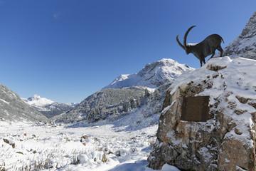 Österreich, Vorarlberg, Blick auf Berg-und Lechquellengebirge Zugertal