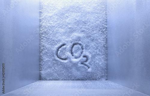 CO2 auf Eis im Gefrierschrank geschrieben