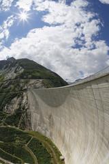 Österreich, Kärnten, Ober Tauern, Maltatal, Koelnbreinsperre mit Skywalk