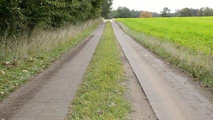 Concrete gauge railways in the landscape