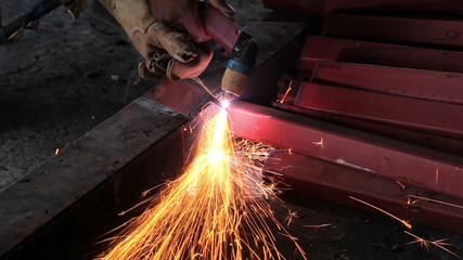 Man working welder