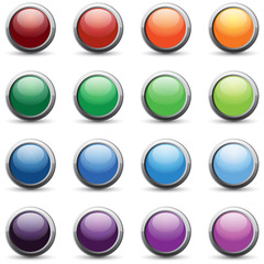16 color web buttons