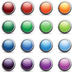 16 color web buttons