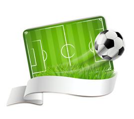 Fussballfeld Signet