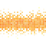 Abstract yellow pixel background. - 62696038