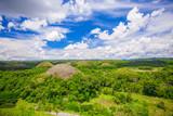 Green unusual Chocolate Hills in Bohol, Philippines