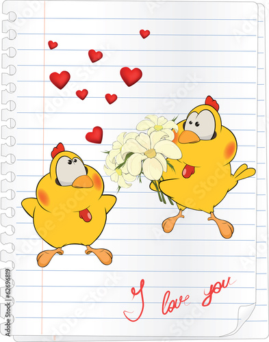 chicks in love cartoon