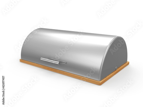 Metallic Breadbasket isolated on white background