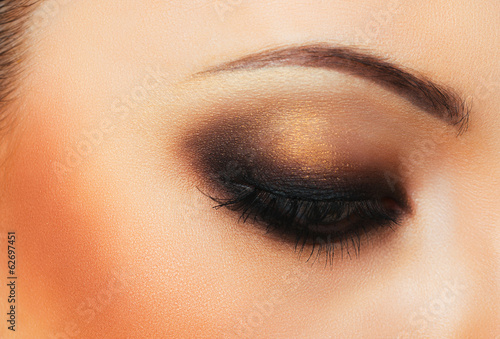Beautiful womanish eye with makeup