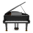 Leinwanddruck Bild - black grand piano isolated on white background