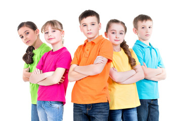 Group of children with crossed arms.