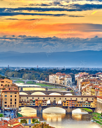 Bridges over Arno river in Florence