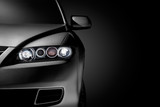 Black modern car closeup - 62701259