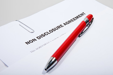 Non disclosure agreement and pen