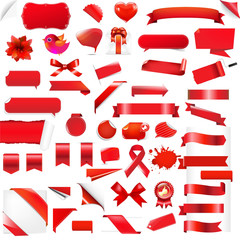 Big Set Red Elements