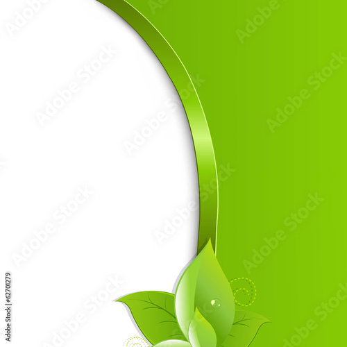 Green Ecology Background With Leaves