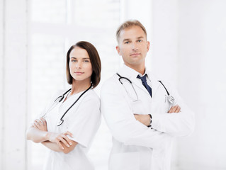 two doctors with stethoscopes