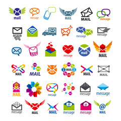 collection of vector logos mail messages