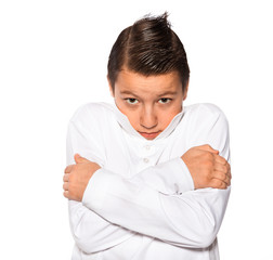 boy the teenager isolated on a white background