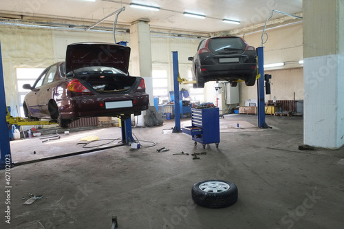 a car repair garage