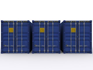 Frontalansicht High Cube Container