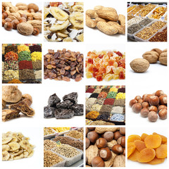 Nuts and dried fruit collection