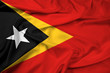 Waving East Timor Flag