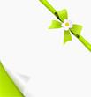 Karte Aufkleber Schleife Blume