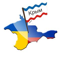 Die Krim zwischen der Ukraine und Russland