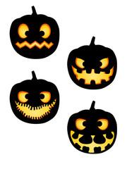 Halloween Pumpkin Silhouettes Pack