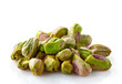 canvas print picture - pistachios on a white background