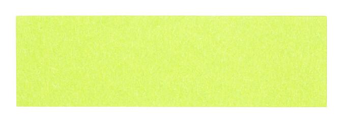 Flat green rectangular sticky note