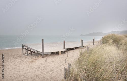 Jetty white sand beach Brittany - 62706416