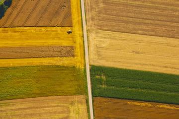 Landwirtschaftliche Anbaufelder aus der Luft