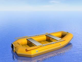 Inflatable boat - 3D render