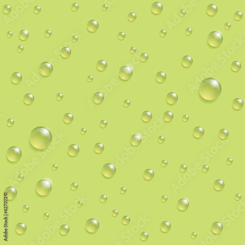 Drops seamless pattern on the green background.