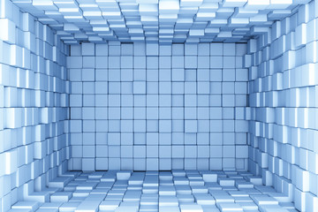 Blue cubes background © Leigh Prather