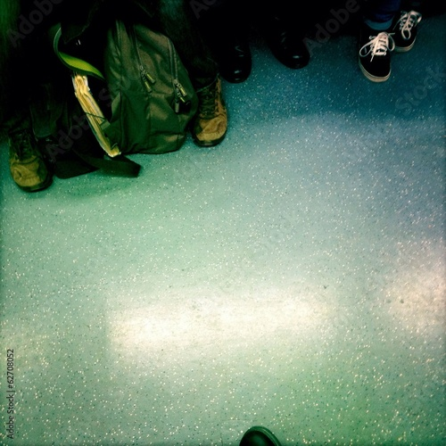 foot in the subway