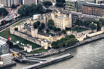 Aerial view of Tower Hill, London